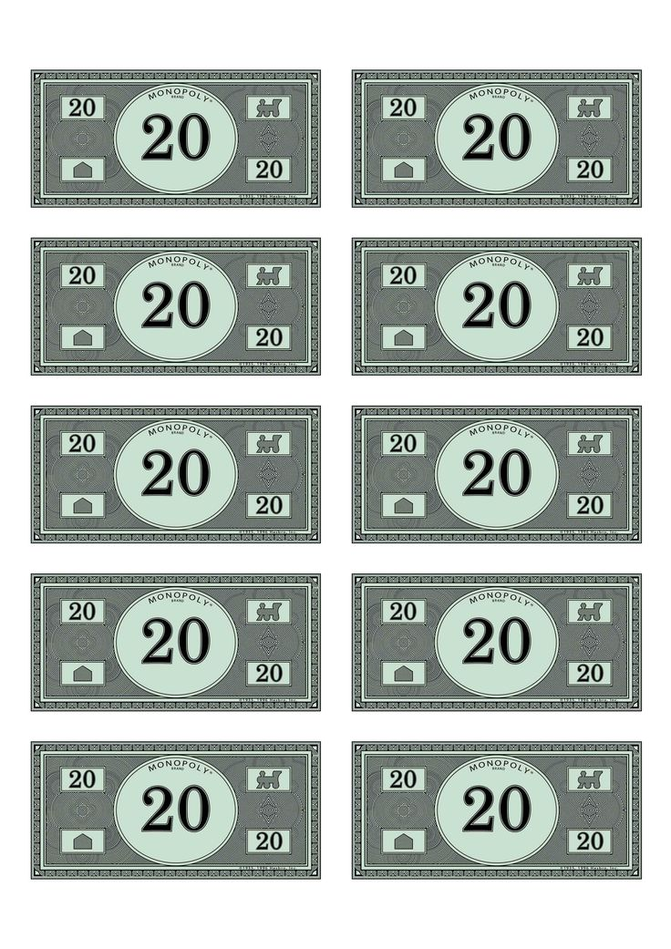 Monopoly money 20 ra pinterest money and monopoly for Monopoly money templates