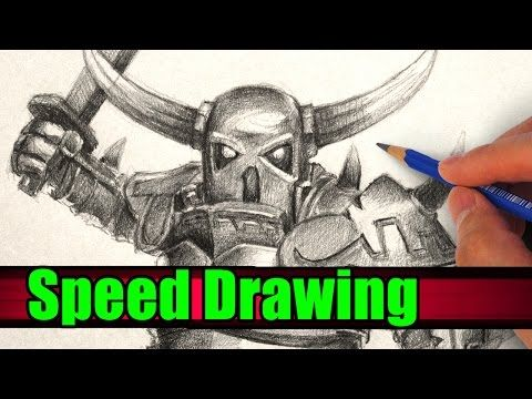How to Draw PEKKA from Clash of Clans and Clash Royale - YouTube