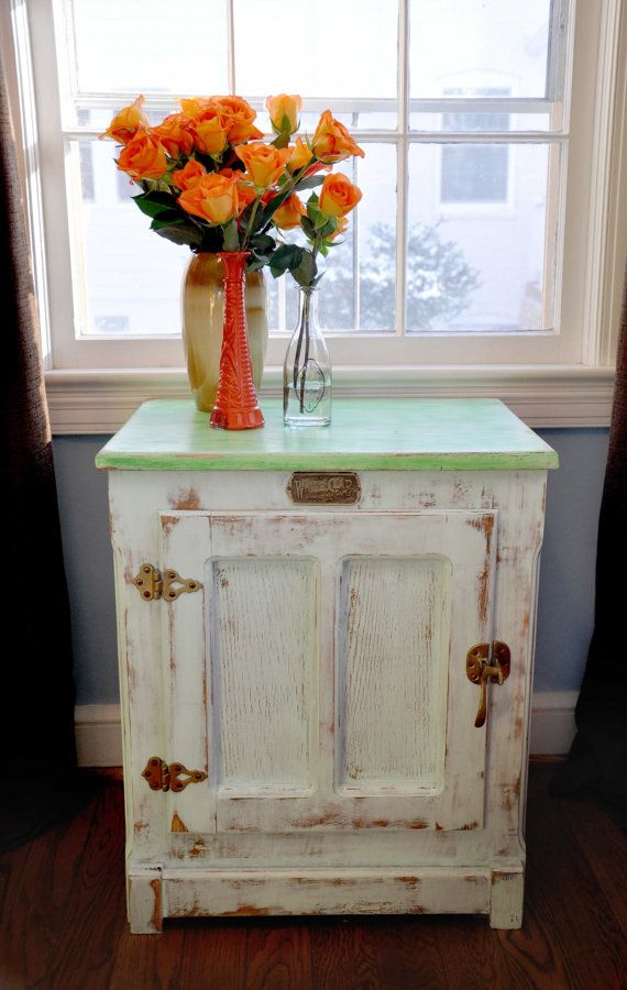 Vintage Ice Box Accent Table by MommomsDesk on Etsy, $149.00