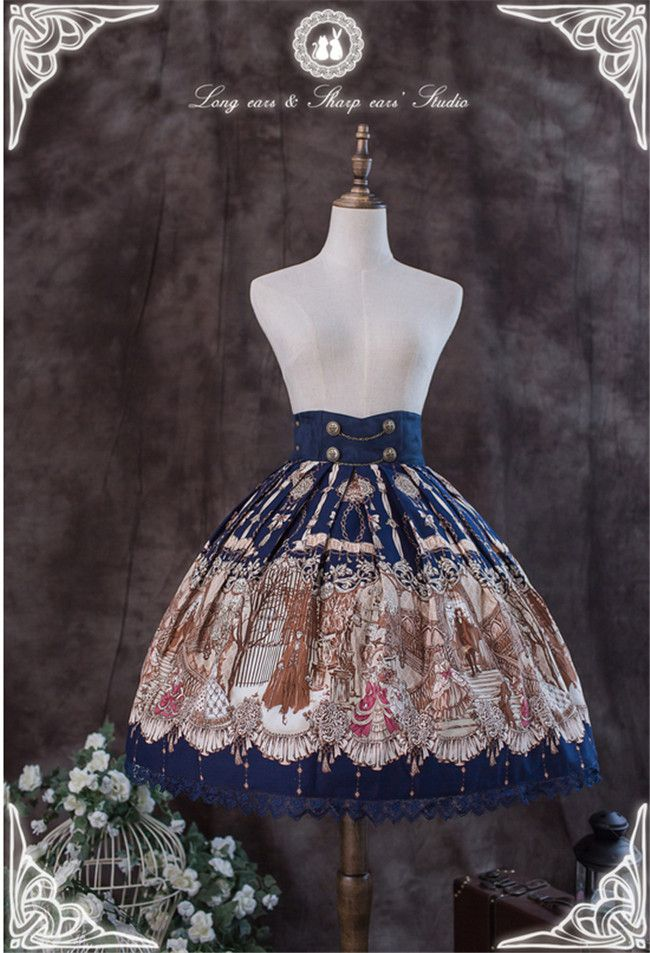 Blood Moonlight Waltz~ Lolita Skirt - Customizable Pre-order