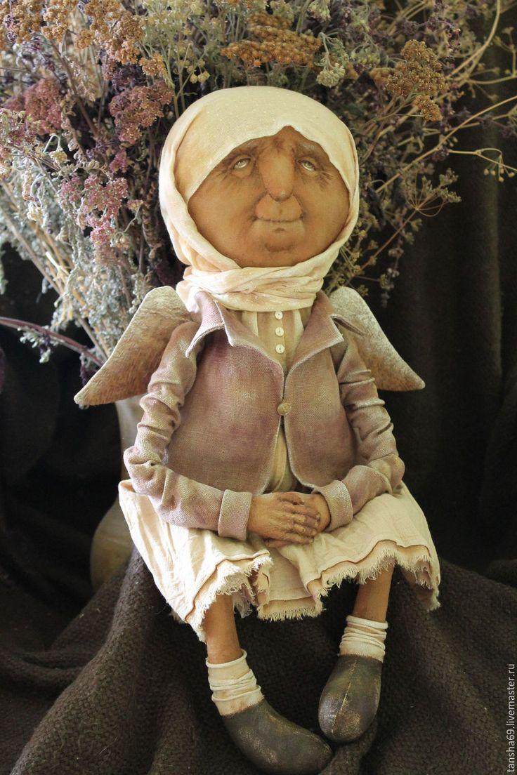 Купить Усталый Ангел мой... - комбинированный, текстильная кукла, ароматизированная кукла, интерьерная кукла, ангел