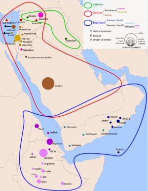 Semitic Languages Map: Semitic Languages Map