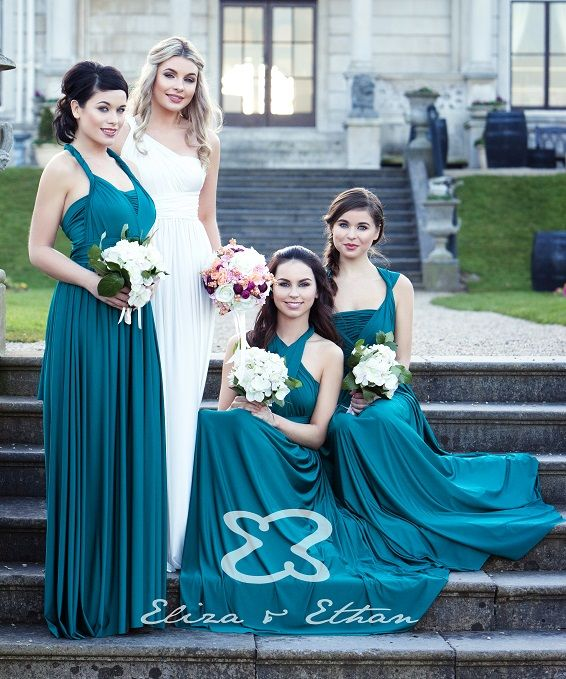 Robe de soirée et de demoiselle d'honneur turquoise - Caralys Nice - Alpes Maritimes (06)