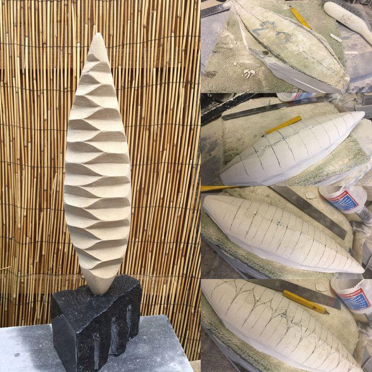 Bivalve pattern Portland limestone 2017