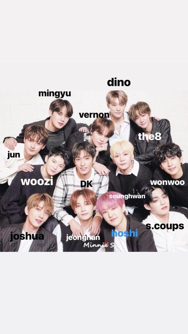Seventeen Seventeen Album Seventeen Kpop Seventeen Members Names