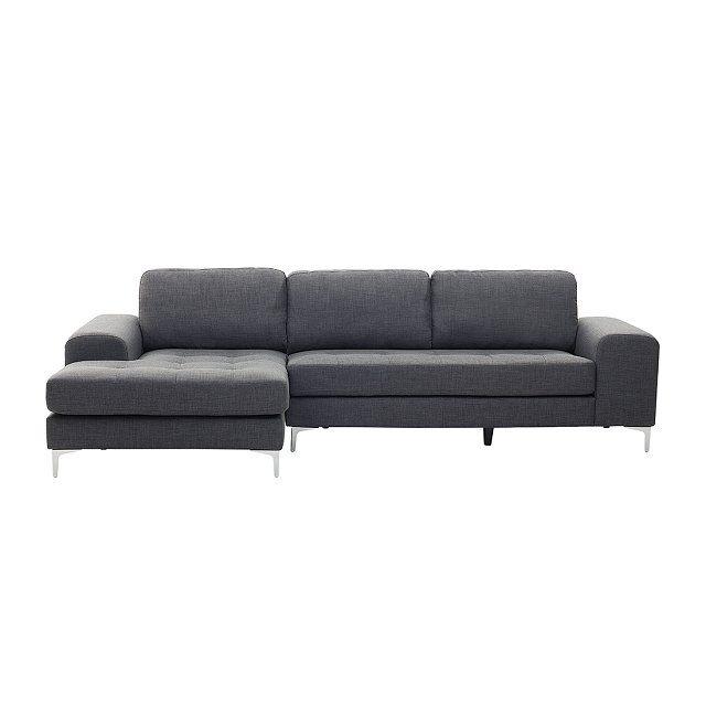 Amazing Das Sofa wurde mit einem modernen Materialmix aus Chrom und Stoff designet und bildet so einen