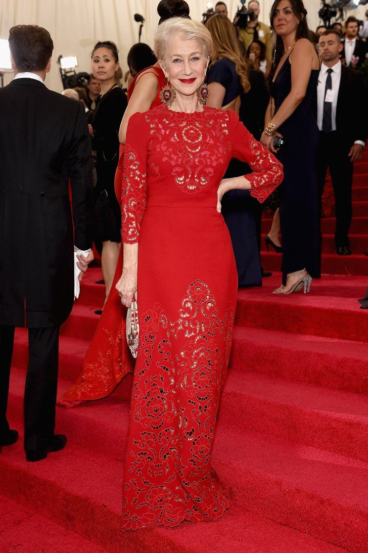 Pin for Later: 51 Times Starlets Wowed in Scarlet on the Red Carpet Helen Mirren