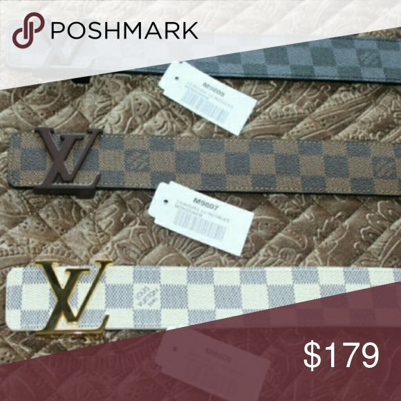 Louis Vuitton Belt Deadstock. They are Real & Authentic so don't ask me if they are real & authentic. Comes with original box and everything. Buy more then one item from me and get a discount. Pay With PayPal Only. PLEASE CONTACT ME TO BUY (813)-808-3545 Louis Vuitton Accessories Belts
