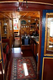 Cool boat interior.