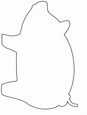 Simple-shapes # Pig Coloring Pages