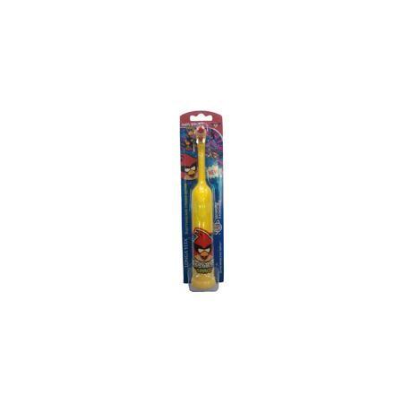 LONGA VITA Зубная щетка электрическая для детей от 3-х лет, + батарейка, Angry Birds, LONGA VITA, красная птичка  — 639р.  Электрическая зубная щетка для детей от 3-х лет, + батарейка, Angry Birds, LONGA VITA (Лонга Вита), красные птички.    Характеристика:  • Материал: пластик, нейлон. • Размер упаковки: 23х5х3 см.  • Длина щетки: 19 см.  • Элемент питания: 2 ААА батарейки (в комплекте).  • Жесткость щетины: мягкая.  • Эргономичная ручка. • Удобная кнопка включения.  • Яркий привлекательный…