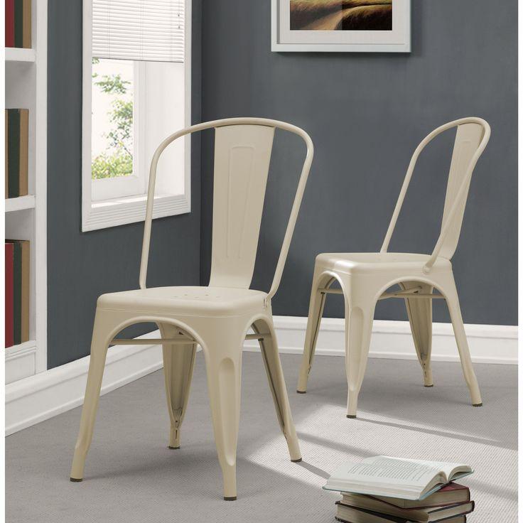 Tabouret Bistro Cream (Ivory) Dining Chairs (Set of 2) (Cream) (Metal)
