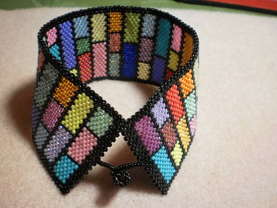 stained glass look cuff bracelet