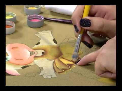 Mulher.com 16/04/2013 - Pintura em Tecido Patch Colagem 3D Eliana Rolim Parte 2 - YouTube