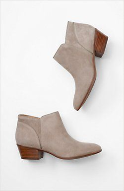 Clarks® western ankle booties