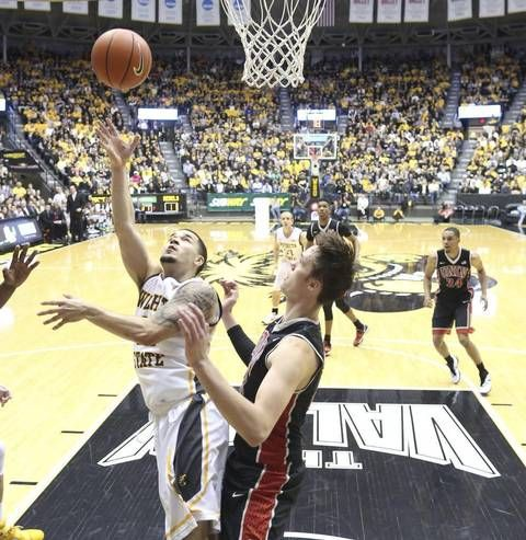 Wichita State guard Fred VanVleet shoots against UNLV forward Stephen Zimmerman Jr. during the first half of their game on Wednesday.