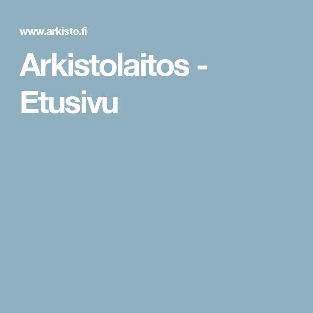 Arkistolaitos - Etusivu