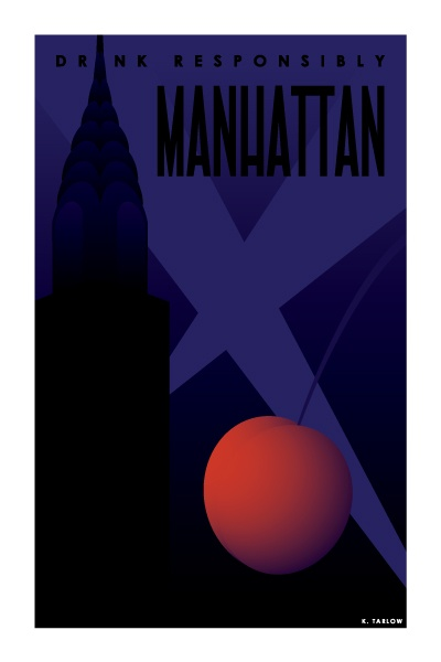 Manhattan: Cocktail Posters (http://artofdrink.tumblr.com/)