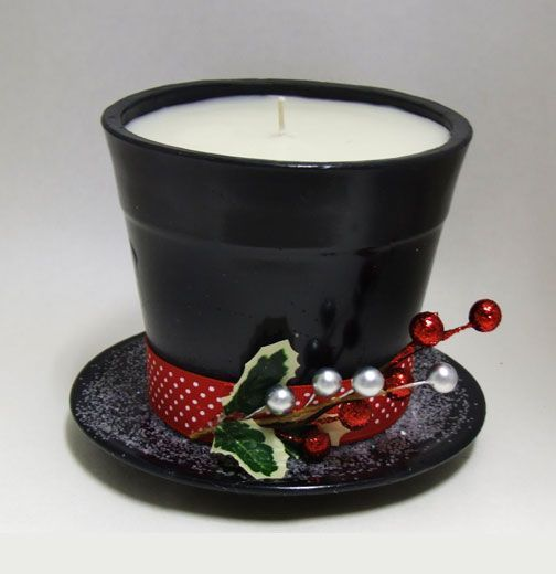 frosty the snowman hat pattern | Frosty's Hat Candle  This would make an adorable gift