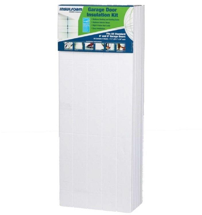 Insulfoam R4.8 Faced Polystyrene Garage Door Foam Board Insulation Panel Kit #Insulfoam