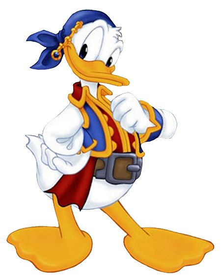 Pirate Donald Duck | Back to Mickey's Pals Clipart