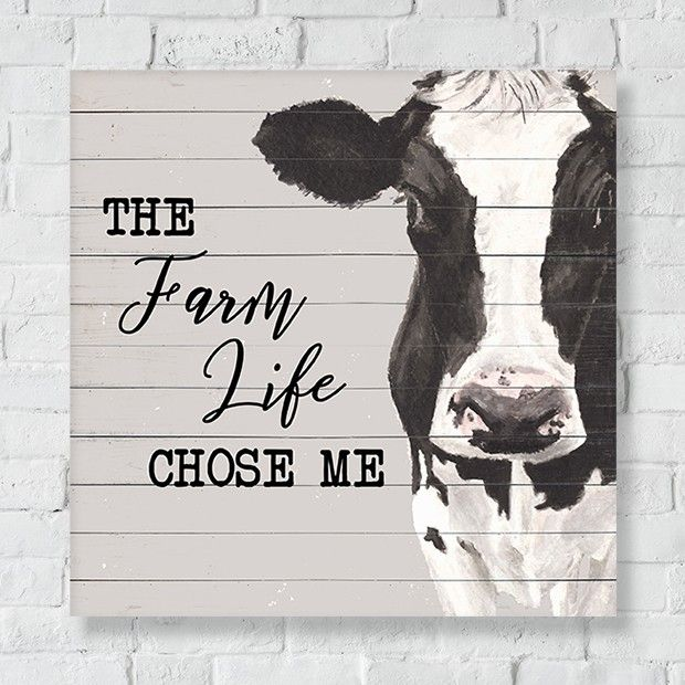Farm Life Cow Canvas Wall Art Cow Decor Cow Canvas Cow Wall Decor