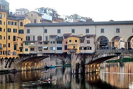 Florence is the most populous city in Tuscany, with approximately 370,000 inhabitants, expanding to over 1.5 million in the metropolitan area.[2]  Located on the banks of the River Arno, Florence is famous for its history and especially its importance in the Middle Ages and during the Renaissance, its art and architecture and, more generally, for its cultural heritage