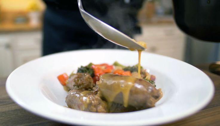 Nick Stellino - Braised Sausages with Broccoli and Peppers