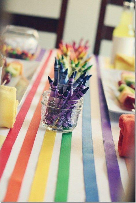 Pr parez un mariage au th me arc en ciel d coration mariage et anniversaire mely - Deco table multicolore ...