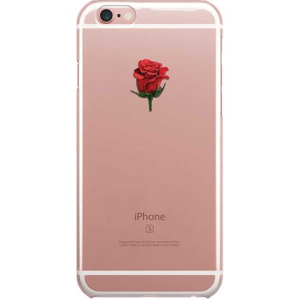 Rose Logo iPhone Case Clear Transparent Phone Cases Cover Etui... ❤ liked on Polyvore featuring accessories, tech accessories, phone, iphone sleeve case, silicone iphone case, iphone cases, logo iphone case and apple iphone case