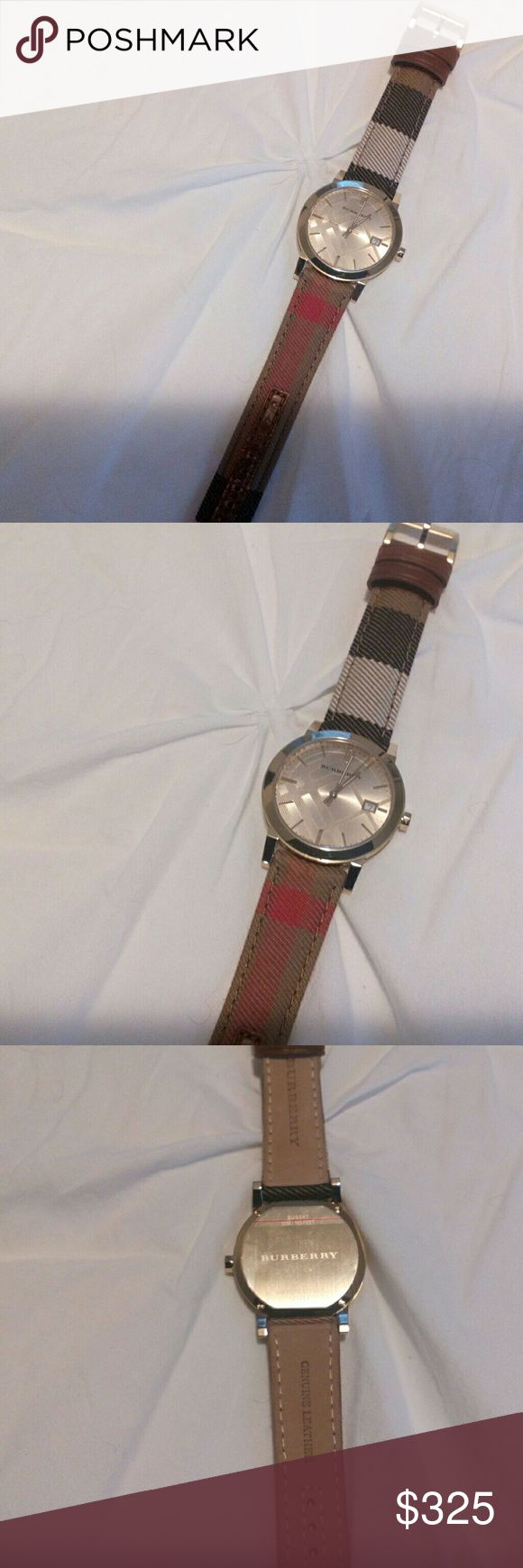 BURBERRY AUTHENTIC womens fabric strap watch Beautiful watch. My daughter bought and just didn't look right. She wore maybe twice. Burberry Accessories Watches