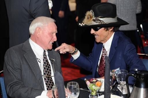 Cale Yarborough and Richard Petty