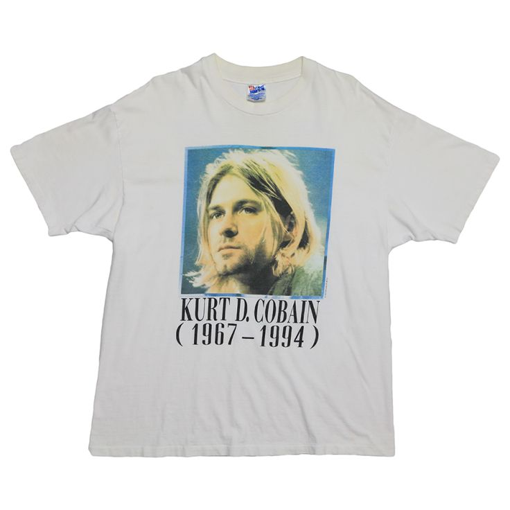 "Kurt Cobain (1994) - ""Portrait/Painting"" Memorial Tribute Vintage Tee"