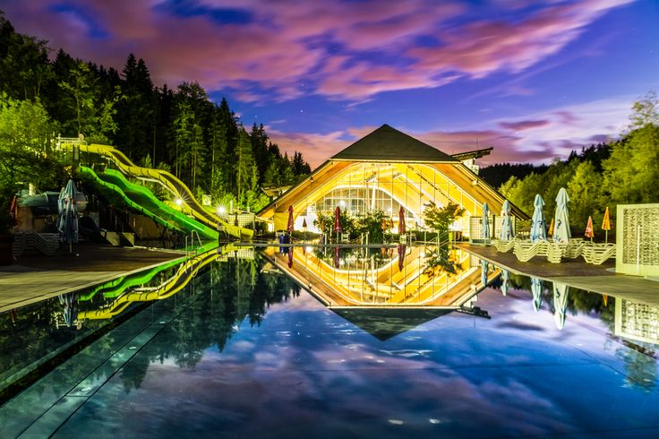 Beautifull night picture of Spa Snovik - Slovenia
