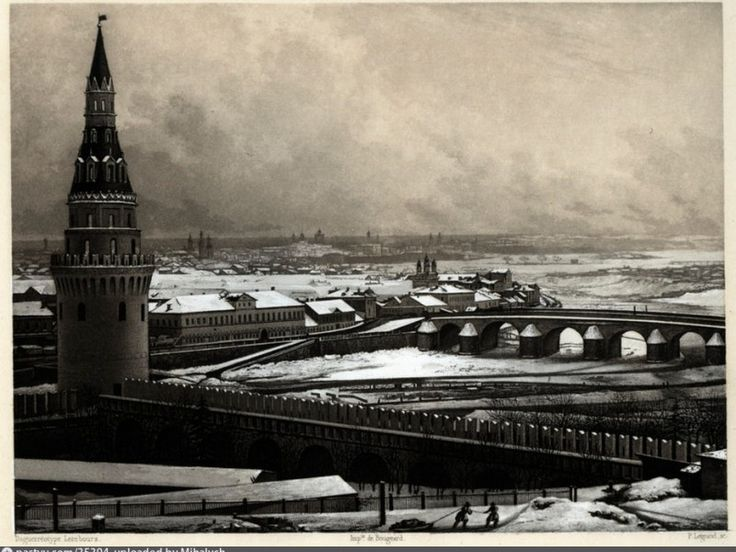 1842. Later, in 1854, a belfry of Church of St. Nicholas will be there, in the background.