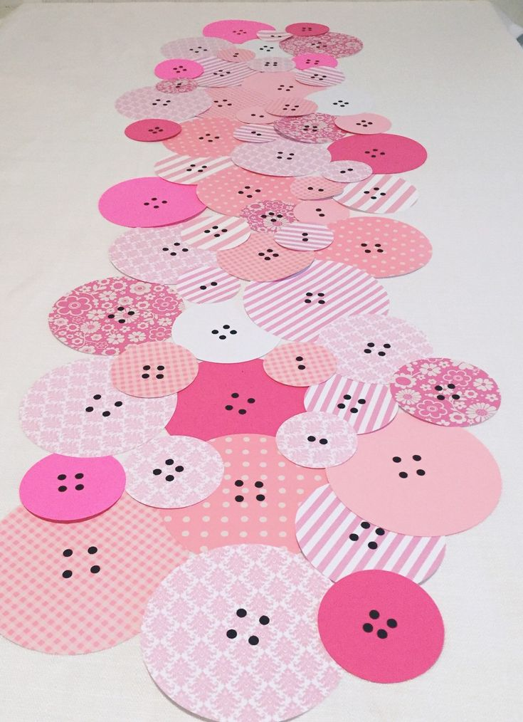 Button Baby Shower Table Runner - Cute as a Button Baby Shower - Button Decor…