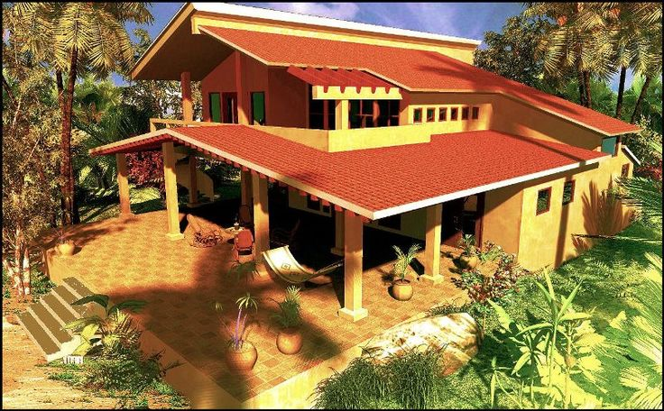 Dibujo Casa Garret, San Diego, Costa del Pacifico, Nicaragua.