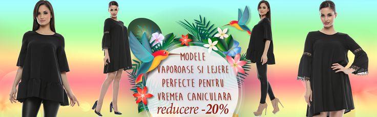 Vă prezentăm OFERTA de -20% la modele marca Adrom Collection vaporoase și lejere, perfecte pentru vremea caniculară specifică sezonului de vară. Acestea se pot achiziționa online en-gros de aici: http://www.adromcollection.ro/cautare?search_query=vaporoasa