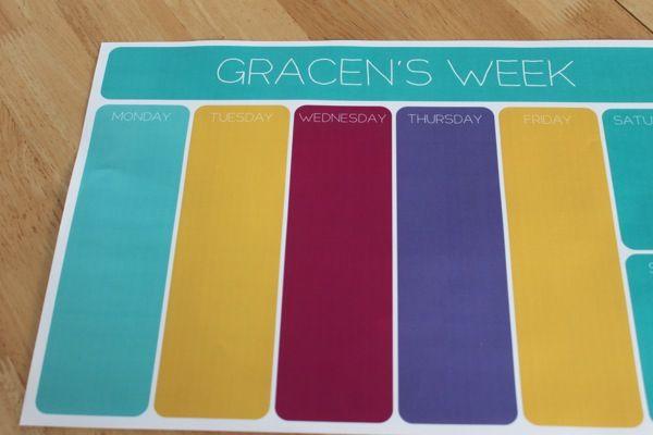 Miss G's Weekly Toddler Calendar | Mama. Papa. Bubba.