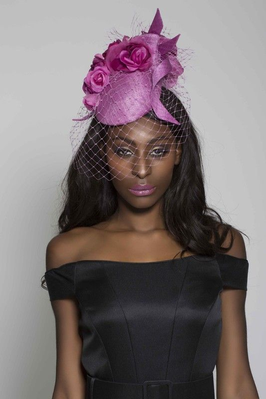 Edwina Ibbotson Millinery | Rambling Rose | Fuchsia and Pill Box Hats | LOVEHATS.COM