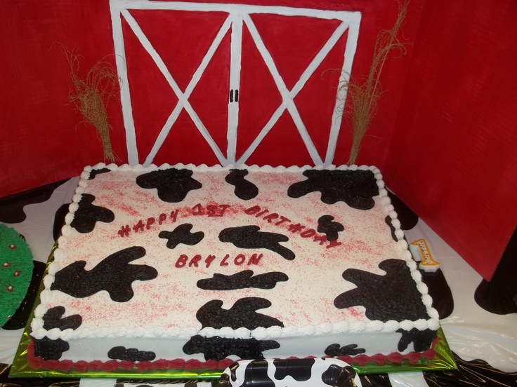 The Sheet Cake For Our Cow Themed Birthday Party 1st