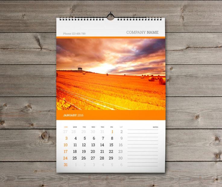 WallCalendarKwWA  Calendar    Template