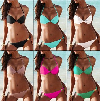 Cheap gift crystal, Buy Quality swimwear womens directly from China swimwear girls Suppliers:  teel prop gather squeeze chest PUSH UP BikiniSource categories: Spot Item: T74 Fabric: Nylon / Nylon Fabric Compos
