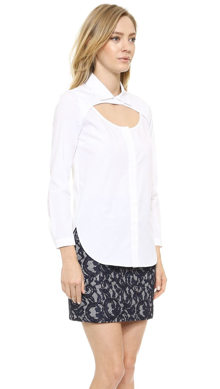 Carven Cutout Yoke Blouse