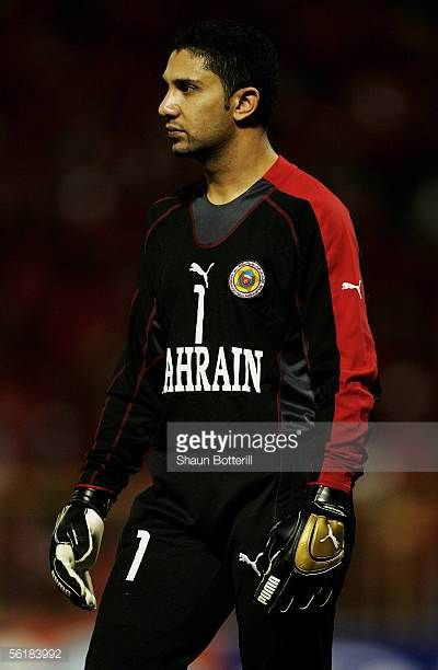 Ali Hassan Ali of Bahrain in action during the FIFA 2006 World Cup Playoff First Leg match between Trinidad Tobago and Bahrain at the Hasley Crawford...