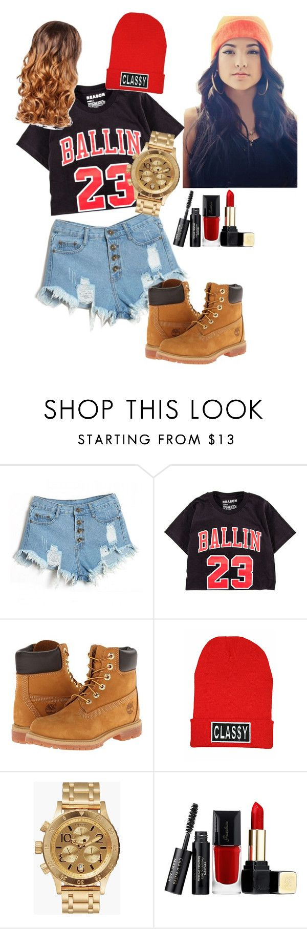 """""""Becky G Concert ;*"""" by hismahomie ❤ liked on Polyvore featuring Timberland, Classy Brand, Nixon, Guerlain and Lipsy"""