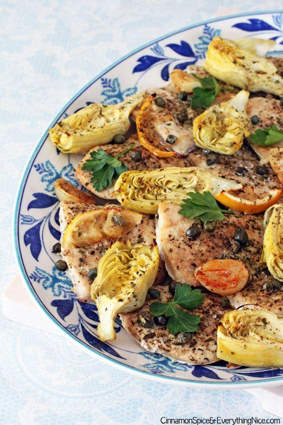 baked lemon artichoke chicken chicken capers lemon baked lemon chicken ...