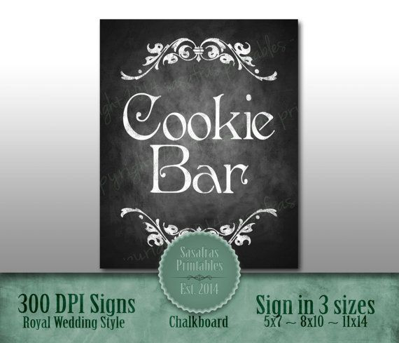Hey, I found this really awesome Etsy listing at https://www.etsy.com/listing/212722801/cookie-bar-wedding-chalkboard-sign-diy