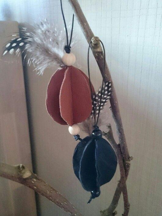Påske,  egg, fjær, perlene, skinn, easter,  perl, feather,  leather, diy