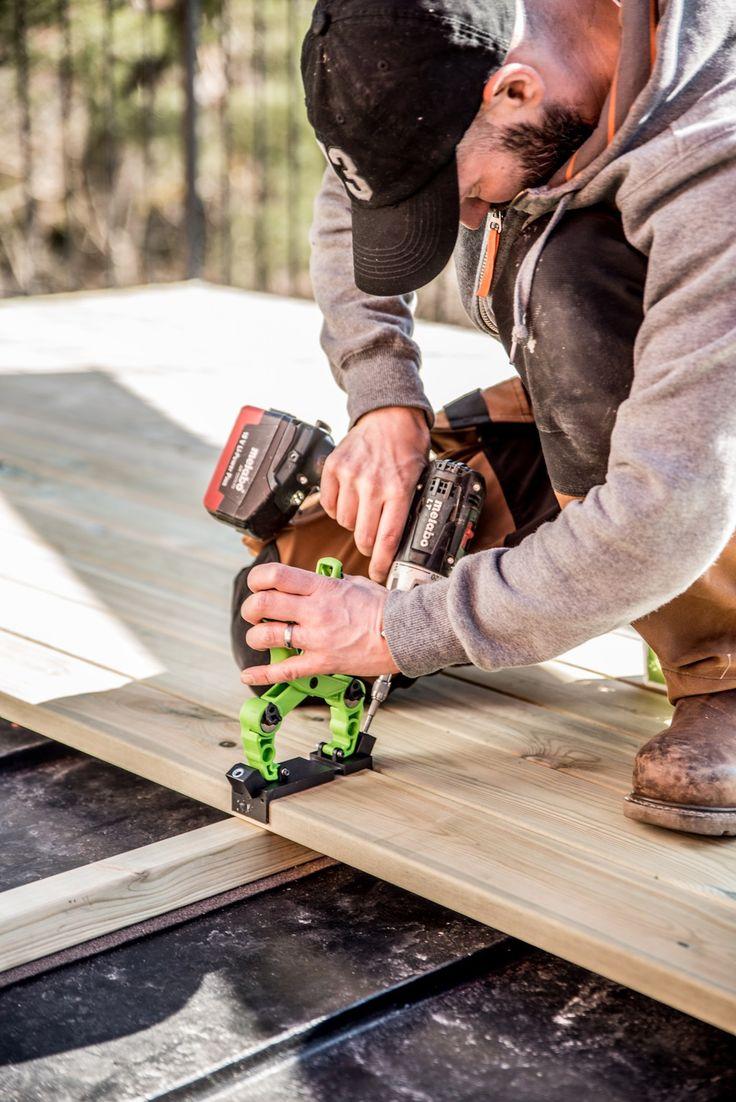 En terrasse uten skruehull - Byggmakker+